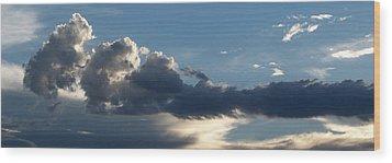 Fierce Cloud Wood Print by Jera Sky