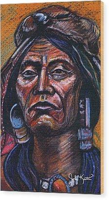Fierce Warrior Wood Print by John Keaton