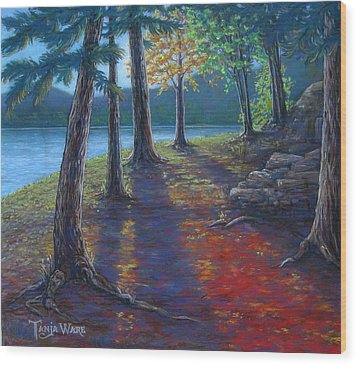 Fiery Fall Afternoon Wood Print by Tanja Ware