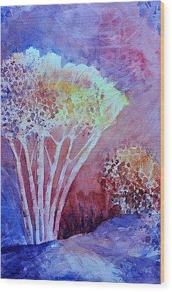 Fiery Fall  Wood Print by Sandy Fisher