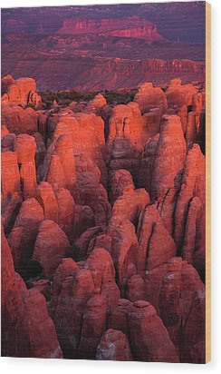 Wood Print featuring the photograph Fiery Furnace by Dustin LeFevre