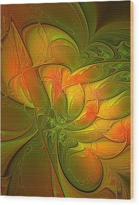 Fiery Glow Wood Print by Amanda Moore