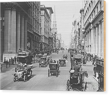 Fifth Avenue And East 34th Street New York City 1907 Wood Print by Padre Art
