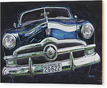 Fifty Ford Wood Print by Mike Hill