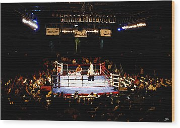Fight Night Wood Print by David Lee Thompson
