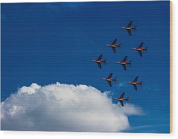 Fighter Jet Wood Print by Martin Newman