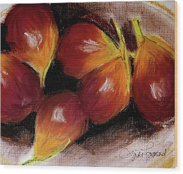 Wood Print featuring the painting Figs by Linde Townsend