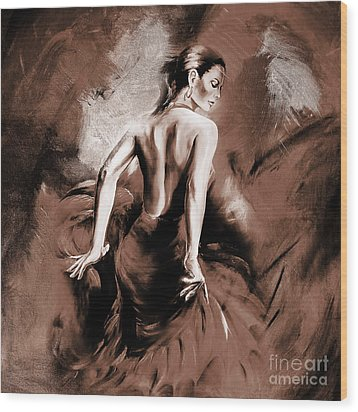 Figurative Art 007b Wood Print
