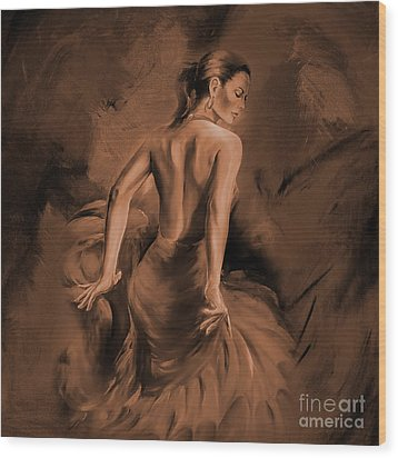 Wood Print featuring the painting Figurative Art 007dc by Gull G
