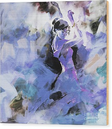 Wood Print featuring the painting Figurative Dance Art 509w by Gull G