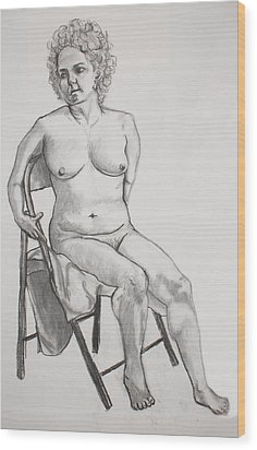 Figure Drawing Wood Print by Jean Haynes