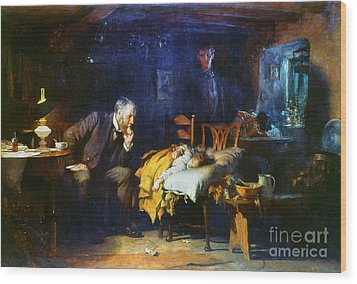 Fildes The Doctor 1891 Wood Print by Granger