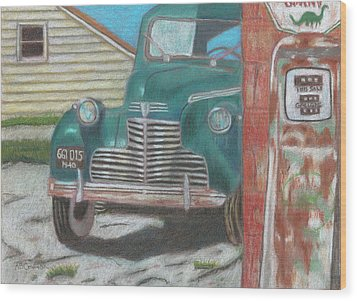 Fill 'er Up Wood Print by Arlene Crafton