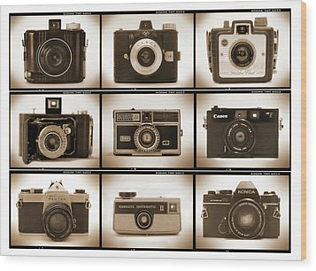Film Camera Proofs 1 Wood Print by Mike McGlothlen
