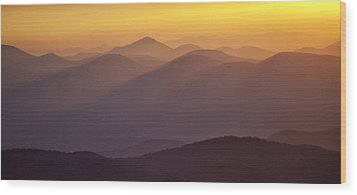 Filtered Light On The Blue Ridge Parkway Wood Print by Rob Travis