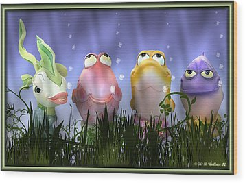 Finding Nemo Figurine Characters Wood Print by Brian Wallace