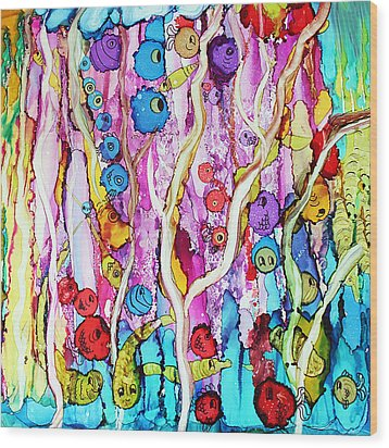 Finding Nemo Wood Print by Suzanne Canner
