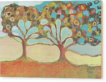 Finding Strength Together Wood Print by Jennifer Lommers