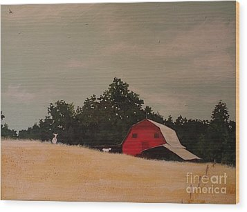 Fine August Day Wood Print by Carla Dabney