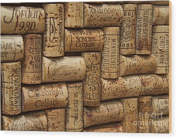 Fine Wine Wood Print by Anthony Jones