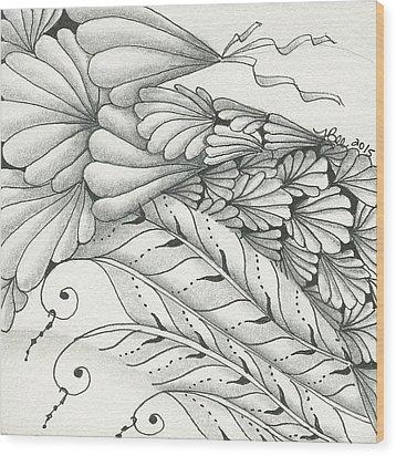 Finery Wood Print by Jan Steinle