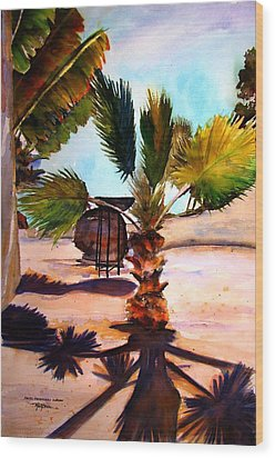 Wood Print featuring the painting Finesterra by Marti Green