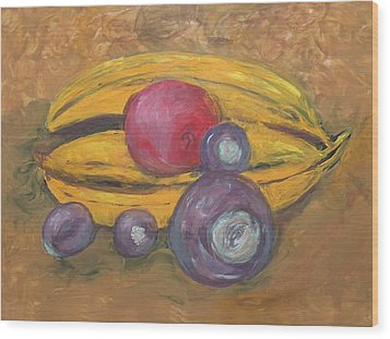 Fingerpainted Fruit Wood Print