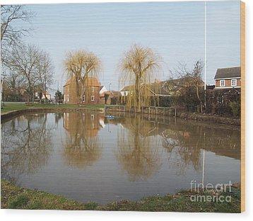 Finningley Pond Wood Print