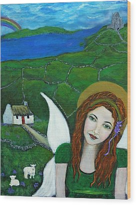 Fiona An Irish Earthangel Wood Print by The Art With A Heart By Charlotte Phillips