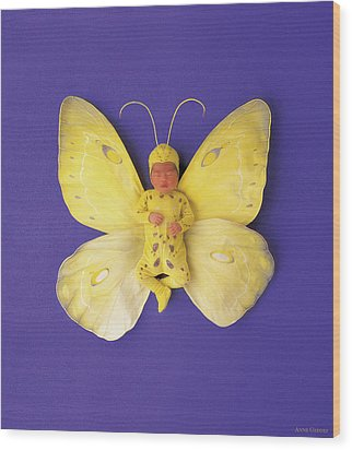 Fiona Butterfly Wood Print by Anne Geddes