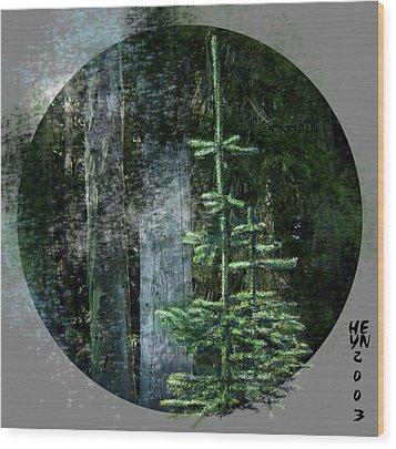 Fir Trees - 3 Ages Wood Print by Shirley Heyn