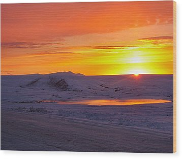 Wood Print featuring the photograph Fire And Ice by Adam Owen