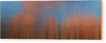 Wood Print featuring the photograph Fire And Ice by Ken Smith
