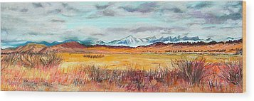 Fire And Ice Wood Print by Lucinda  Hansen