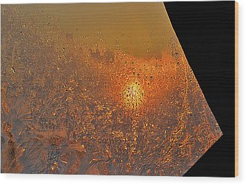 Wood Print featuring the photograph Fire And Ice by Susan Capuano