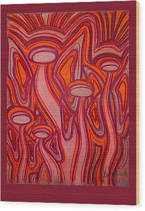 Fire Angels Wood Print by Deborah Willard