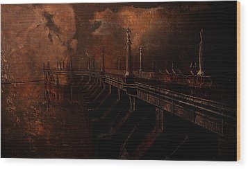 Fire At Diablo Wood Print by Jeff Burgess
