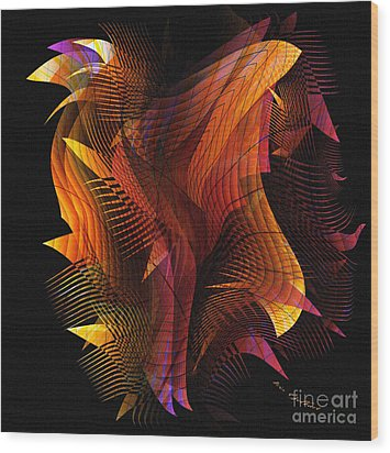 Fire Dance Wood Print