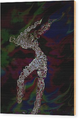 Wood Print featuring the photograph Fire Dancer by Irma BACKELANT GALLERIES