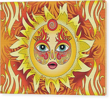 Fire Element Wood Print by Serena King