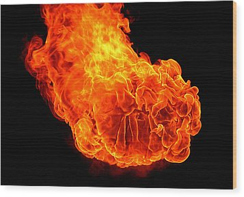 Wood Print featuring the photograph Fire by Emanuel Tanjala