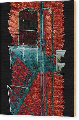 Fire Escape 7 Wood Print by Tim Allen