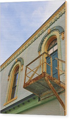 Fire Escape Wood Print by Jan Amiss Photography