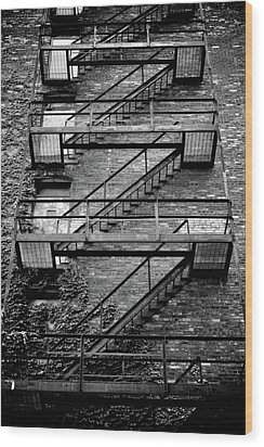 Fire Escape Wood Print by Odd Jeppesen