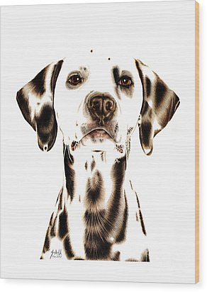 Fire Fighter's Best Friend Wood Print by Sheryl Unwin