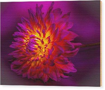 Fire Flower Wood Print by Bruce Pritchett