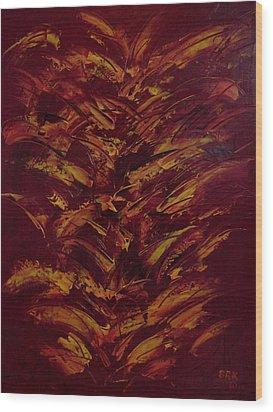 Fire Flowers Wood Print by Bo Klinge