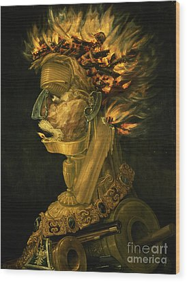 Fire Wood Print by Giuseppe Arcimboldo