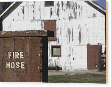 Wood Print featuring the photograph Fire Hose by Lora Lee Chapman