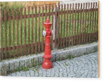 Fire Hydrant Wood Print